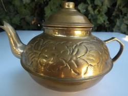 Fém - réz - vésett - kávés - és - vagy teáskanna - fél liter - gyönyörű - hibátlan