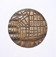 Nagyobb bronz plakett, Orosháza tenyere