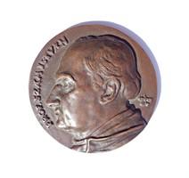 Prof. Szám István jelzett bronz plakett