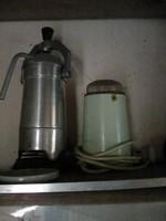 Retro kávéfőző és daráló,elektromos