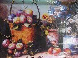 Új - Asztali csendélet kerettel hangulatos  falikép