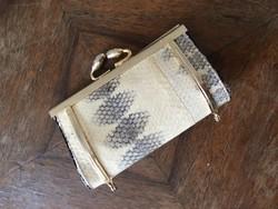 Kis női névjegytartó réz és kígyó bőr vagy pénztárca