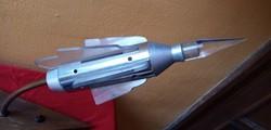 Világító rakéta asztali lámpa / asztaldísz.