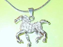 Álomszép! Crystallized SwarovskiElements kr. Paripa - Ló 925 Ezüst  Nyaklánc