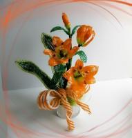 Gyöngyből készített virág kompozíció GYV33