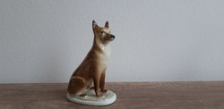 Zsolnay porcelán farkaskutya kutya