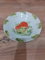 #18, Kezi  festes porcelan kis tányér, 10.5cm szeles