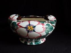 Annaburg antik, kézzel festett majolika kaspó