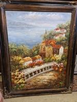 Déli egzotikus tengerpartos olaj-vászon festmény
