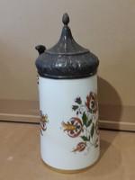 Herendi porcelán, söröskupa, régi, ritka darab, ajándéknak.25 cm