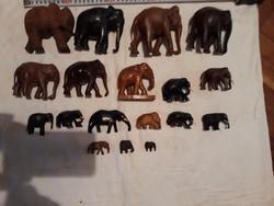 18 db fa faragott elefánt