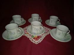 043 6  személyes virág mintás kávés készlet szögletes csészékkel