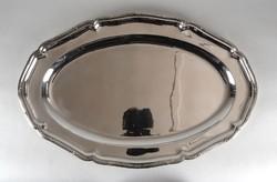 1B290 Régi nagyméretű jelzett 800-as ezüst tálca 1295 g