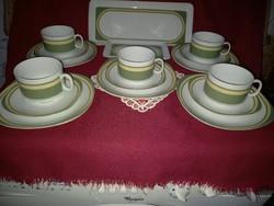 043 5 db Schinding Bavaria reggeliző szett 2 db tálcával ovális tányérokkal