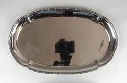 1B292 Régi ovális alkú jelzett 800-as hólyagos ezüst tálca 475 g