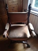Trónszék karfás fotel