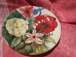 Gyönyörű virágmintás francia porcelán tányér