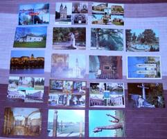 43 színes magyar postatiszta képeslap levelezőlap