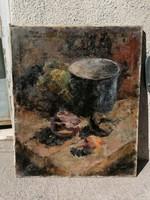 Orbán Gyula asztali csendélet olaj-vászon festmény