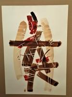 Csavlek András (1942 - ) Corpus II . c. festménye EREDETI GARANCIÁVAL !