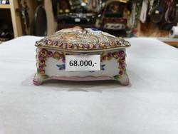 Régi nápolyi porcelán bonbonier