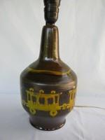 Vonatos mozdonyos retro iparművész kerámia lámpa
