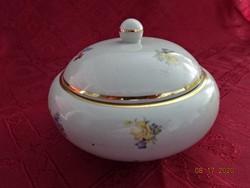 Drasche porcelán bonbonier, legnagyobb átmérője 13,5 cm.