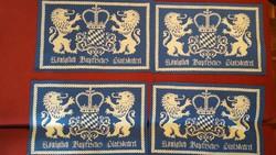 4 db heraldikai motívumos tányéralátét