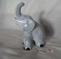 Aquincum porcelán elefánt (vintage / retro nipp)