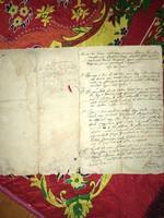 Pécsely/Nagypécsely/ 1802 /Csapó János után maradt  ingatlanok öröklése tárgyában !Tanúvallomásokkal