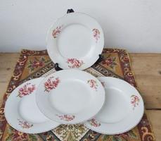 4 db barackvirágos lapostányér, tányér, Gyönyörű darabok.