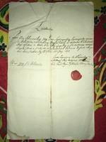 Pest 1820. május 30. Nyugta 779 rajnai forint értékben  NagyPécsely helységből a földesúr a pesti...