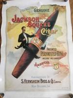 Jackson Square Cigar Reklám poszter A2-es