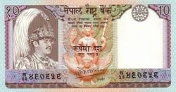 Nepál 10 Rupia 1985 UNC