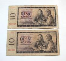 CSEHSZLOVÁKIA - 2 db -10 Korun - 1960 (3.)