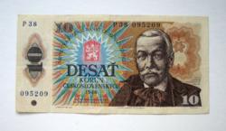 """CSEHSZLOVÁKIA - 10 Korún - 1986 - """"P"""" széria - (2.)"""