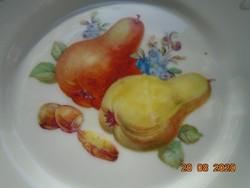 Altwien jelzéssel gyümölcs mintás tányér