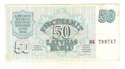 50 rubel rublu 1992 Lettország 2.