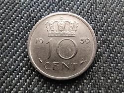Hollandia I. Julianna (1948-1980) 10 Cent 1959 (id31084)