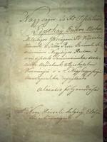 Nagypécsej 1846 július 29. Kérelem Lipthay Endre esztergomi főkáptalan Kanonokhoz
