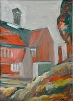 Schéner Mihály (1923-2009): Alpesi ház