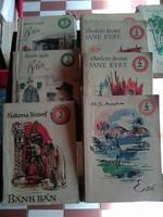Híres regények ,olcsó kiadásban, kicsi utazáshoz is jó könyvek