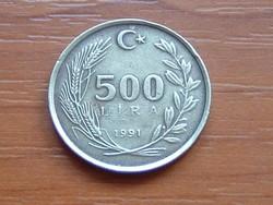 TÖRÖKORSZÁG 500 LÍRA 1991 81-63% Réz, 9-27% Ólom, 10% Alumínium #