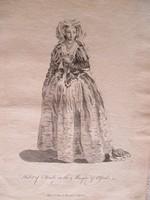 Antik metszet, XVII. század: : Eltruda a Masque d'Alfred c. drámában