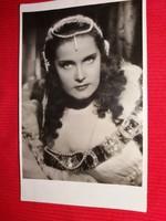 Antik 1942 Karády Katalin portrés képeslap gyönyörű postatiszta gyűjtői állapotban a képek szerint 2