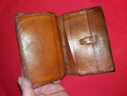 Antik lengyel bőrdíszműves bőr erszény pénztárca a képek szerint 2