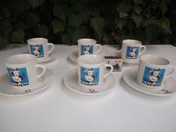 Porcelán - COWITITUDE - ÚJ Bocis - Spanyol - kávéskészlet - KICSI - NORMÁL CSÉSZE - csészealj 12 cm