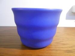 Kaspó virágtartó kerámia kék 10*13 cm