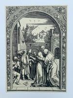 Albrecht Dürer - Joachim and St. Anne Meet at the Golden Gate - vintage nyomat