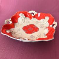 Schlegelmilch német porcelán tál - piros színben